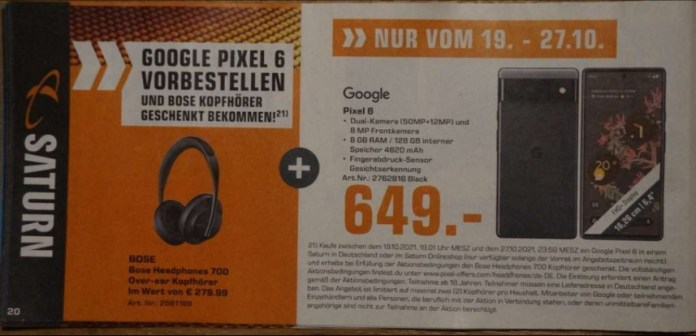 Google Pixel 6 Price Germany Leak