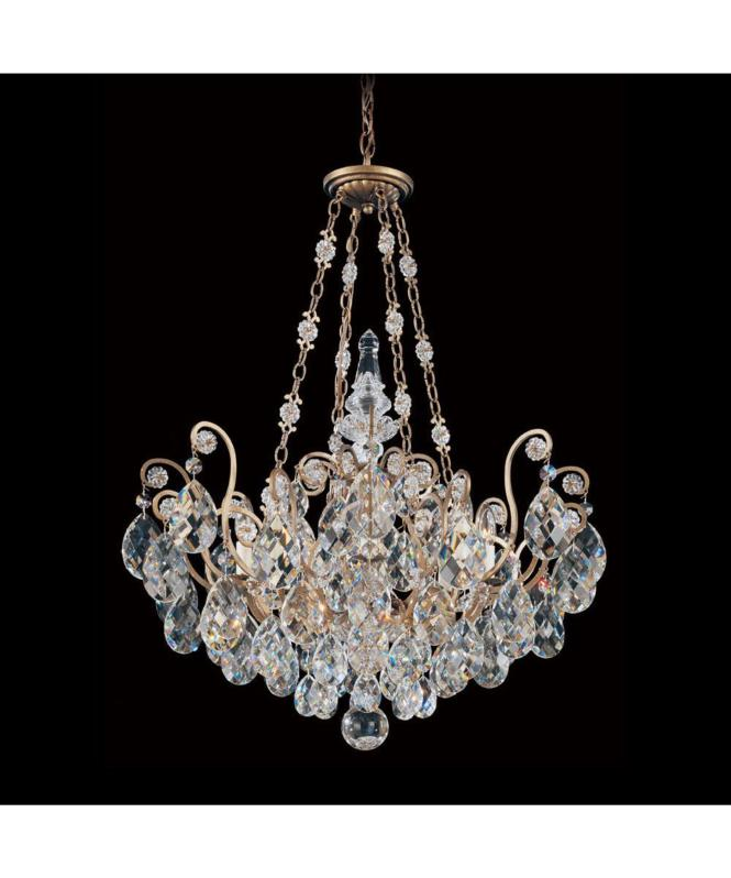 Shown In French Provincial Finish And Golden Teak Swarovski Elements Crystal