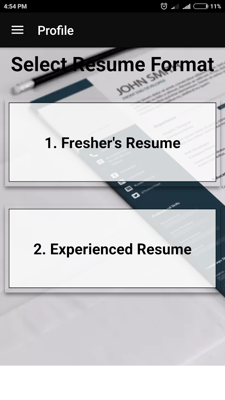 Best Resume Maker for Freshers   Experienced in PDF resume format         best resume maker for freshers experienced in pdf resume format 2018  free resume builder                                                              3