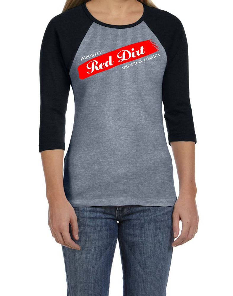 Black Cotton Label | Red Dirt Premier Ladies Raglan
