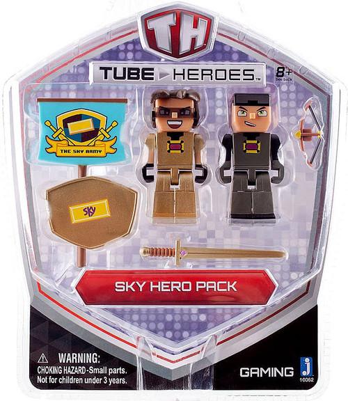Tube Heroes Sky Hero Pack Action Figure 2 Pack Jazwares