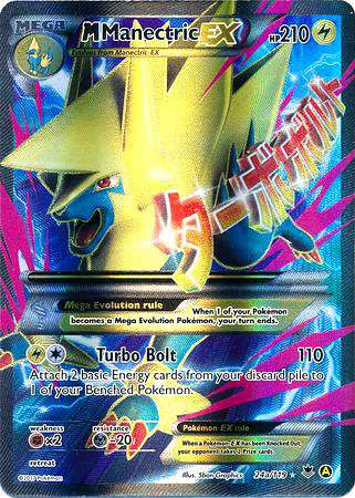 Pokemon X Y Promo Single Card Full Art Rare Mega Manectric