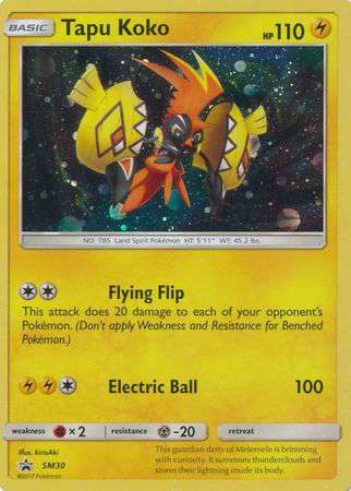 Pokemon Sun Moon Promo Single Card Holo Rare Tapu Koko