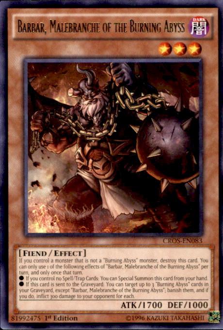 YuGiOh Crossed Souls Single Card Rare Barbar Malebranche