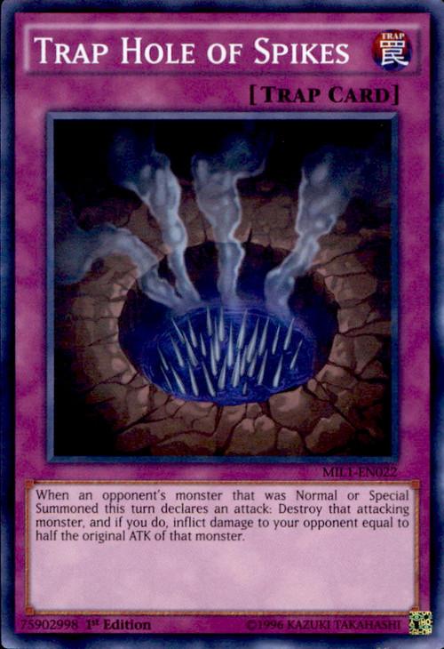 YuGiOh Millennium Pack Single Card Super Rare Trap Hole Of