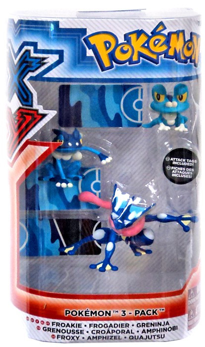 Pokemon XY Froakie Frogadier Greninja Figure 3 Pack Tomy