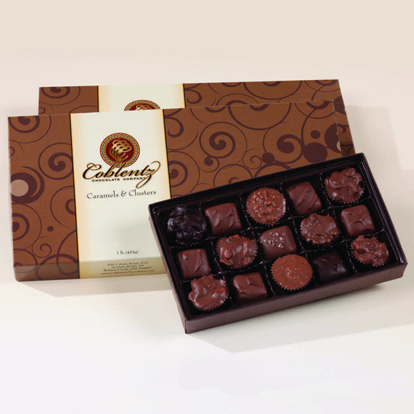 Chocolate Caramels Amp Clusters Gift Box Coblentz