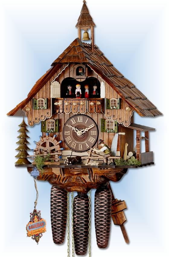 Hekas Forest Farmhouse Cuckoo Clock 19 Bavarian Clockworks