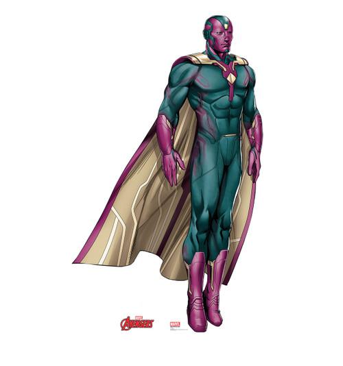 Life Size Vision Avengers Cardboard Standup Cardboard