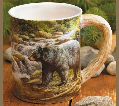 Sculpted Black Bear Coffee Mug American Expedition