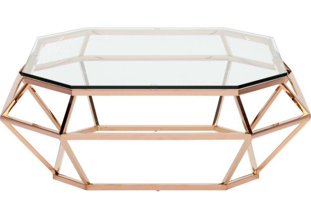 nuevo diamond square coffee table stainless steel or rose gold