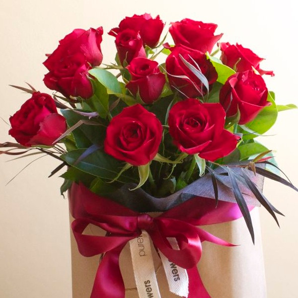 Red Rose Gift Bag Order Online Pure Flowers