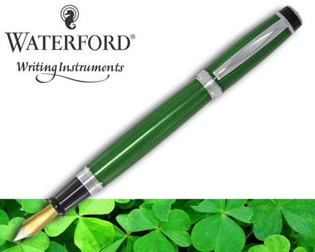Image result for Waterford Kilbarry Fountain Pen Emerald Isle Guilloche
