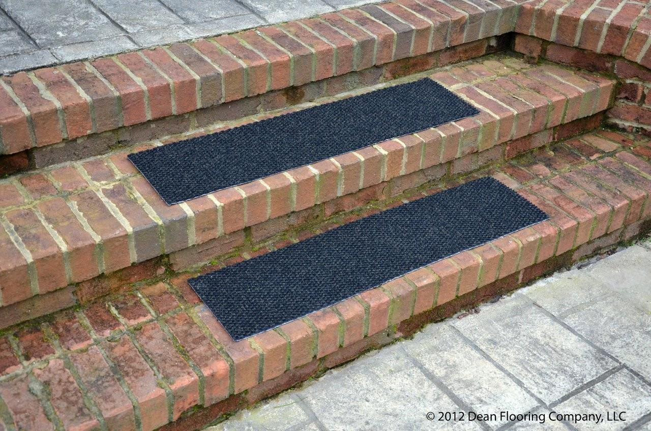 Dean Indoor Outdoor Non Skid Carpet Stair Treads Black | 36 Carpet Stair Treads