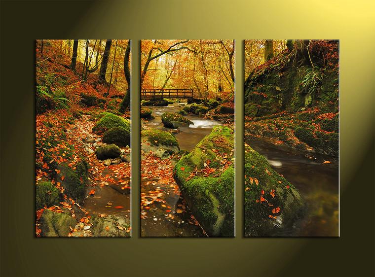 3 Piece Green Canvas Nature Wall Art
