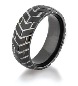 Tire Tread Wedding Rings Dirt Bike Goodyear Motorcycle