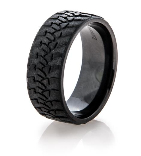 Black Goodyear Wrangler Tire Tread Ring Titanium Buzz