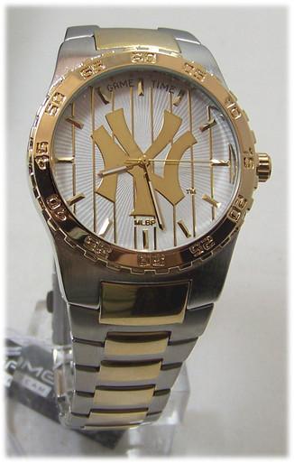 New York Yankees Watch Game Time Executive Mens Dress Wristwatch