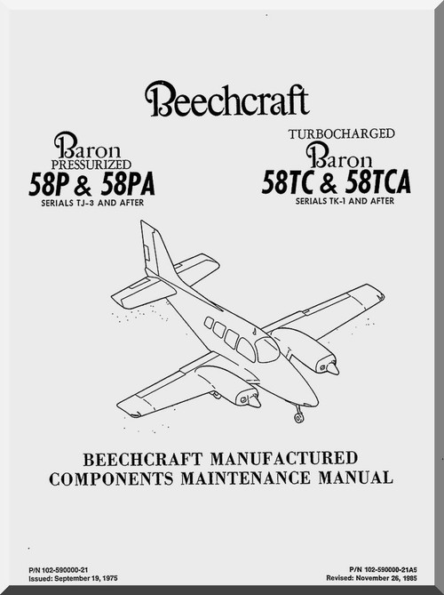 Beechcraft Baron 58 P& PA and TC & TCA Aircraft Component