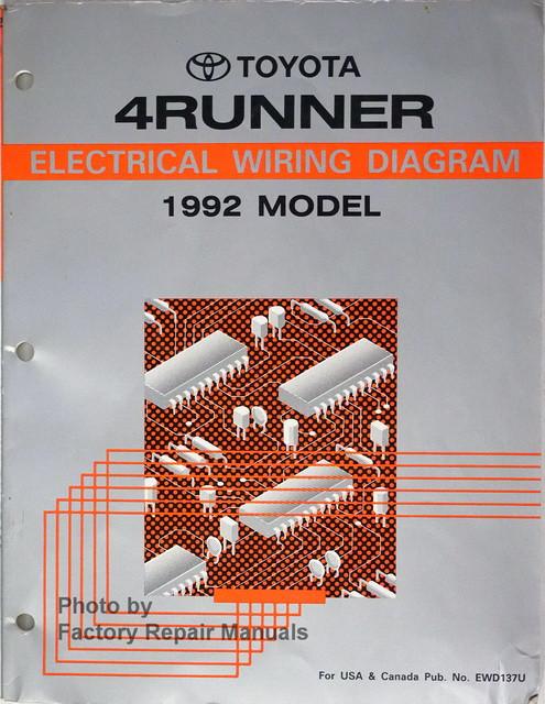 1992 Toyota 4Runner Electrical Wiring Diagrams Original  Factory Repair Manuals