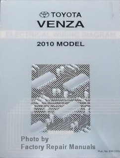 2010 Toyota Venza Electrical Wiring Diagrams Original