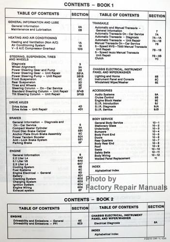 1993 Chevy Corsica and Beretta Factory Shop Service Repair