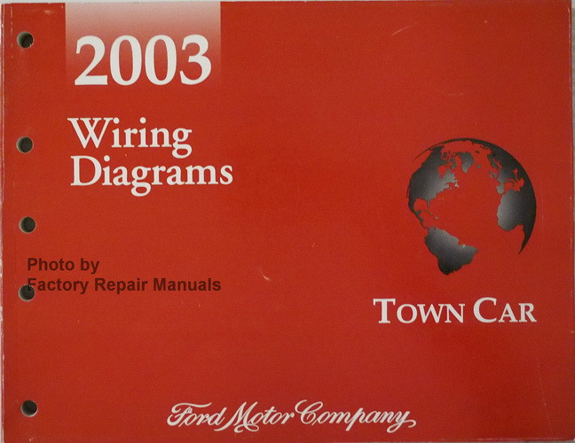 2003 Lincoln Town Car Electrical Wiring Diagrams Original