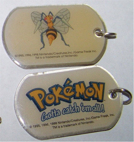 Pokemon Beedrill Dogtag necklace