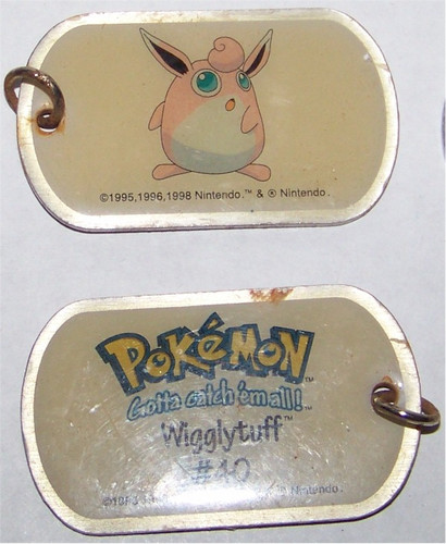 Pokemon Wigglytuff Dogtag necklace