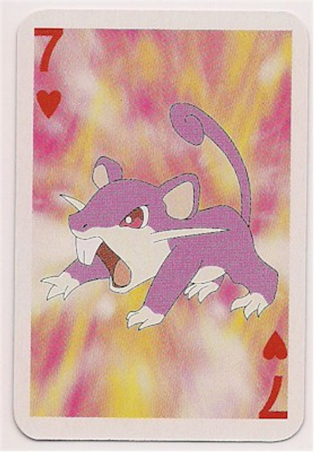 Pokemon Rattata Mini Playing Card