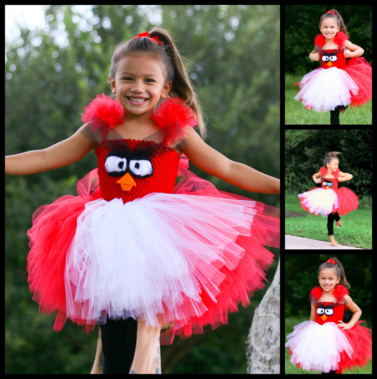 Red Angry Bird Tutu Dress Tutorial How To Make A Fluffy