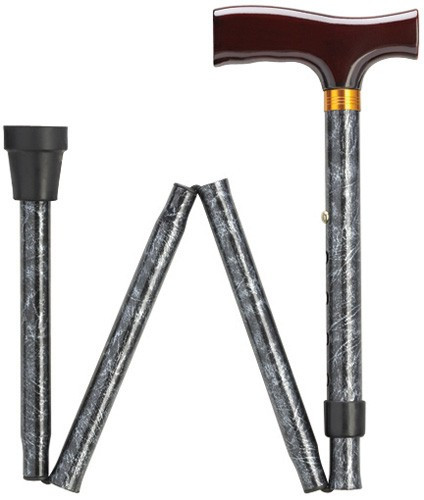 Black And Silver Walking Sticks