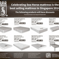 Singapore Source Mattress Promotion Sea Horse