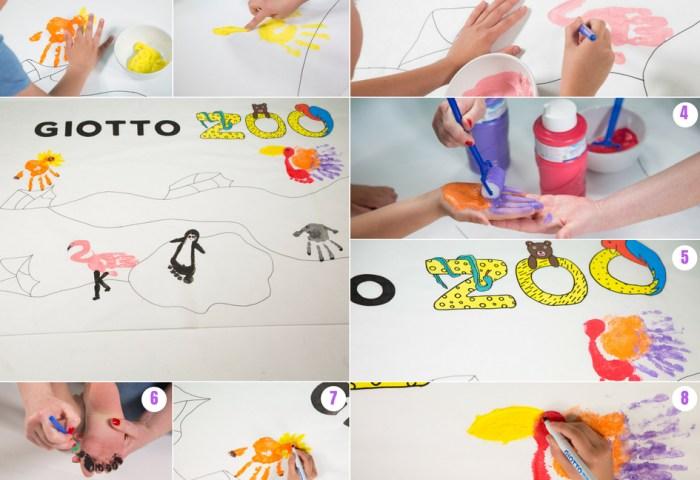 Manualidad Zoo Diy Pintado Con Manos Y Pies