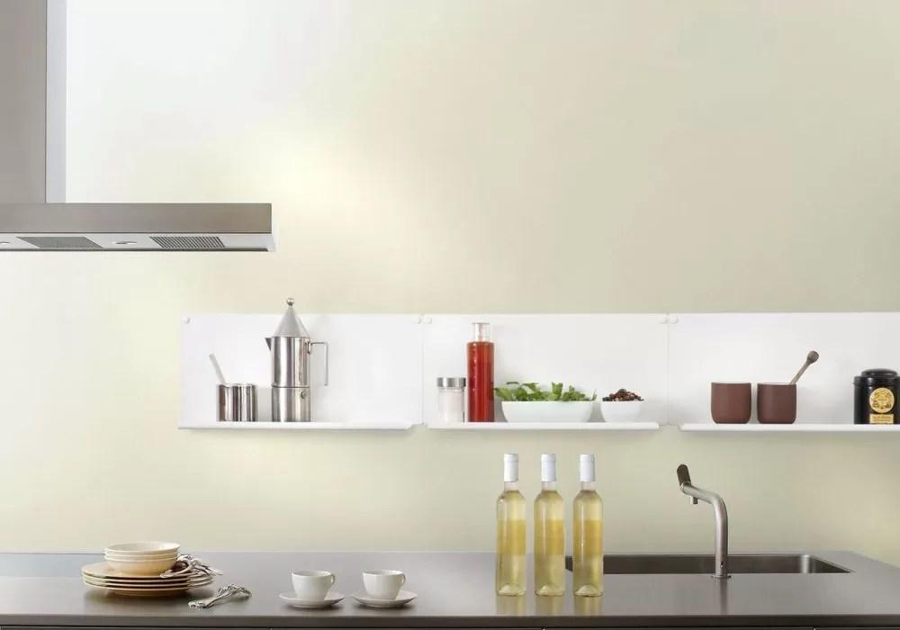 etagere murale de cuisine le ot de 2 45x10 cm acier blanc