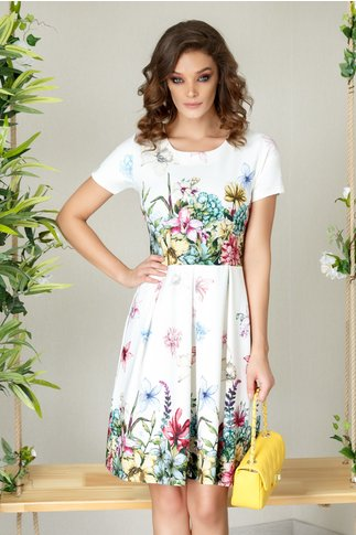 Rochie Talia clos de vara cu imprimeu floral deosebit