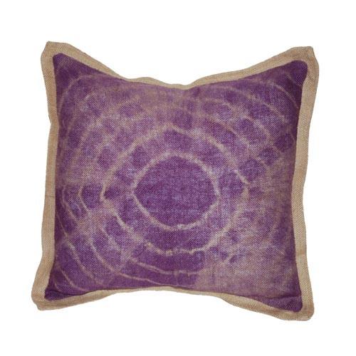 Tie Dye Purple Burlap Pillow Sheherazade