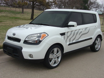 Latest Kia Soul Graphics Decals   Car Pinstripes 2008 2016 Kia Soul Cat Graphic Kit