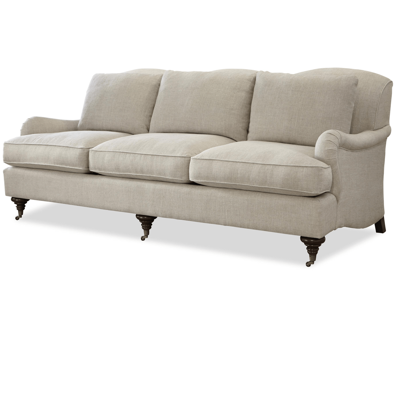 Churchill Linen Upholstered English Rolled Arm Sofa Zin Home