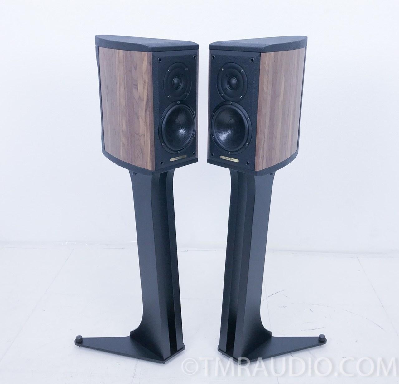 sonus faber liuto monitors / speakers w/stands; walnut pair - the