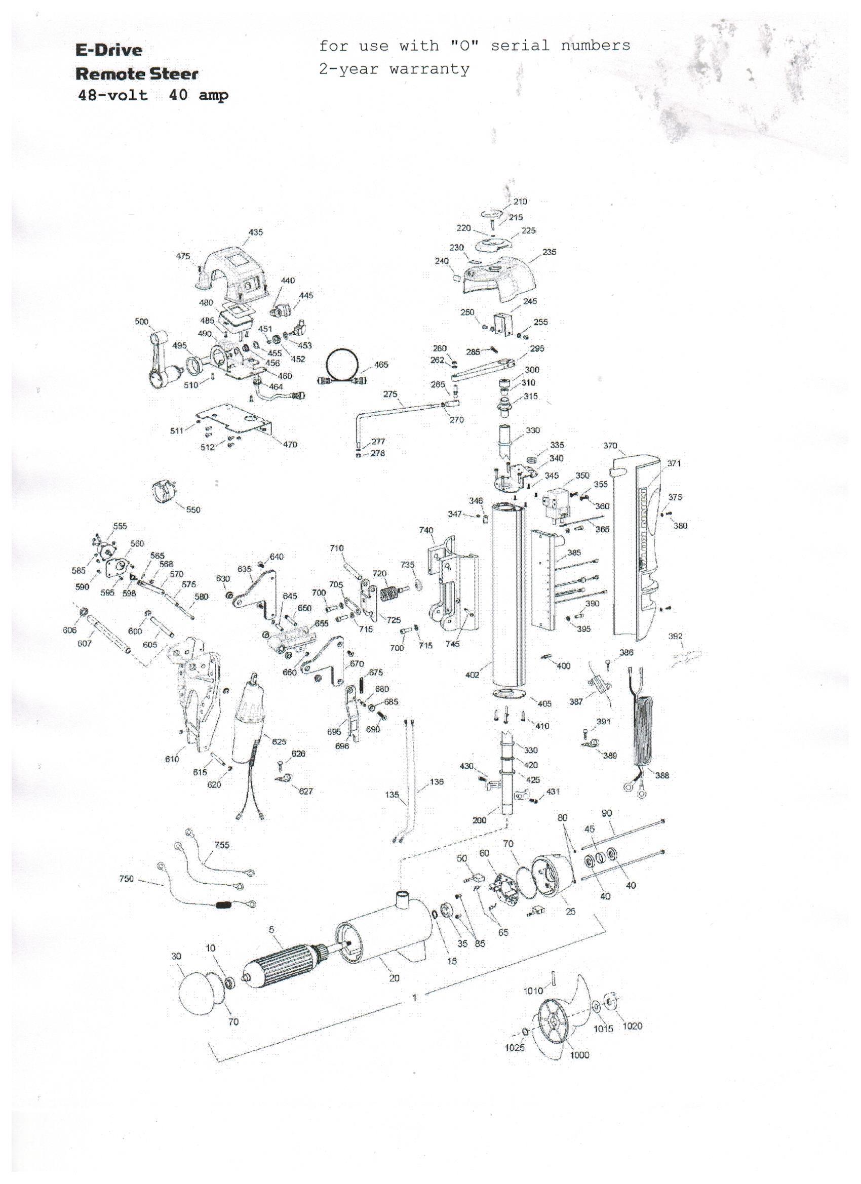 Minn Kota E Drive Parts