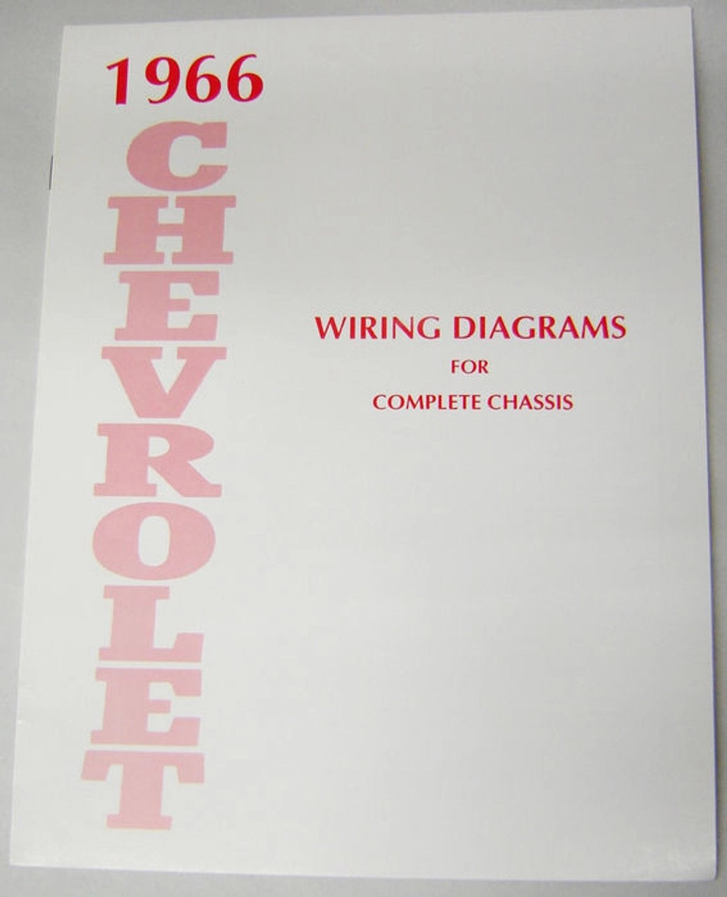 66 1966 CHEVY IMPALA ELECTRICAL WIRING DIAGRAM MANUAL  I5 Classic Chevy