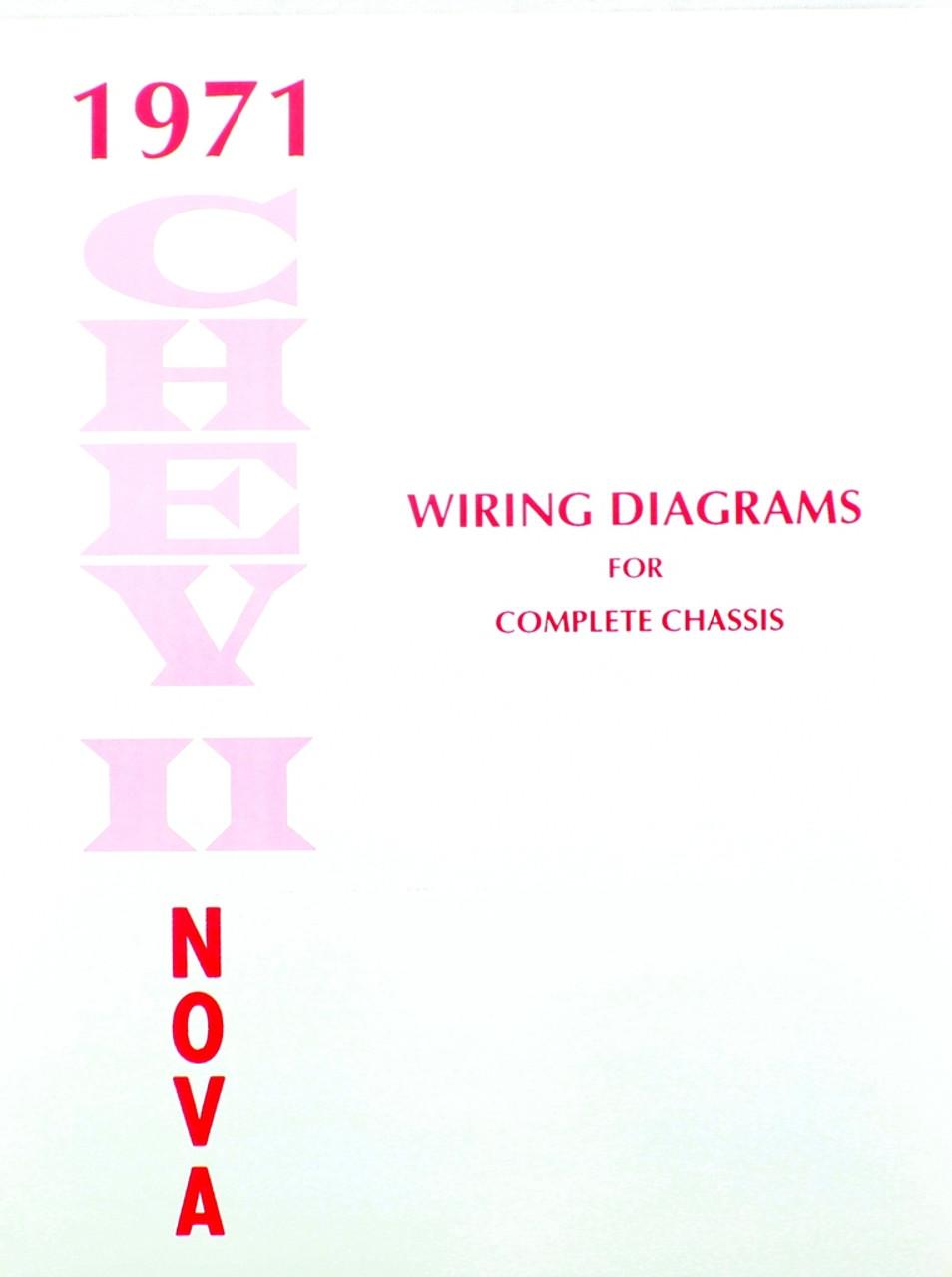 71 1971 CHEVY NOVA ELECTRICAL WIRING DIAGRAM MANUAL  I5