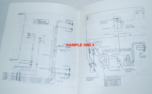66 1966 CHEVY IMPALA ELECTRICAL WIRING DIAGRAM MANUAL  I5 Classic Chevy