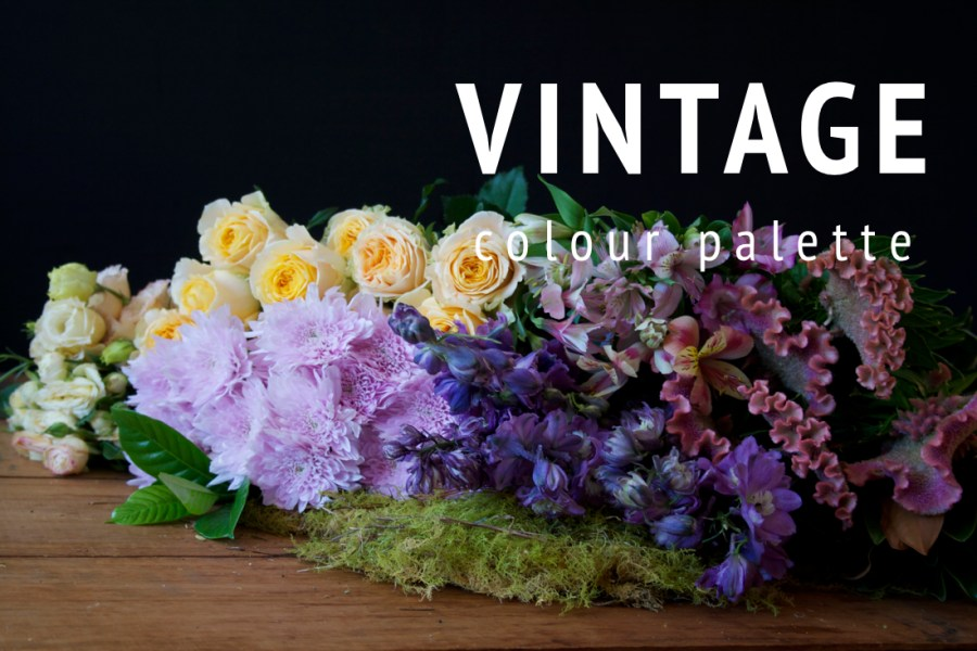 All Occasion Flowers   Market Style Wrapped Flowers Vintage No 1     Example of the  Vintage  seasonal flower colour