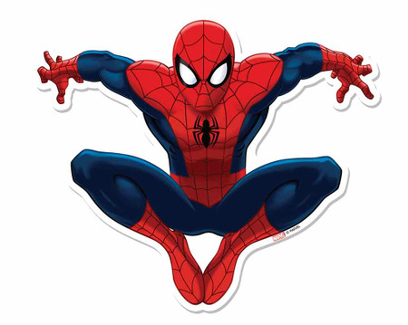 Spider Man 3D Effect Marvel Pop Out Cardboard Cutout Wall