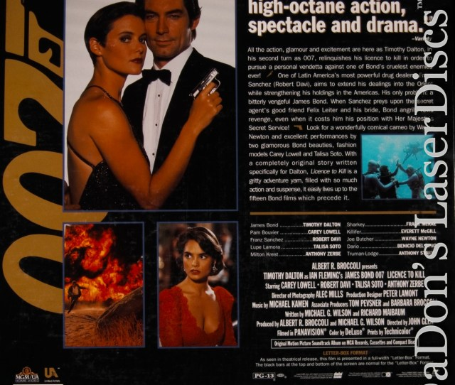 Licence To Kill Ws Rm Rare Spy New Laserdisc 007 James Bond Spy Action