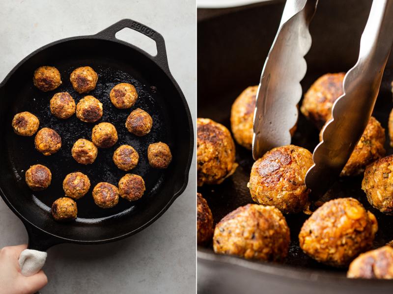 vegan-meatballs-tomato-sauce-fried