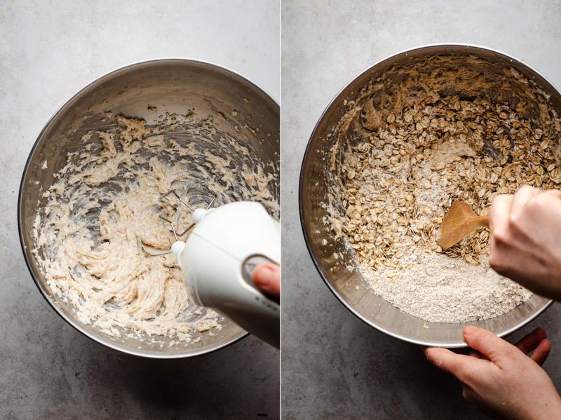 vegan oat cookies making