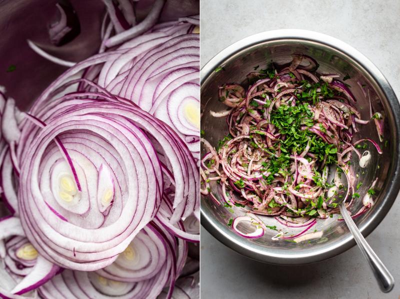 vegan turkish pizza lahmacun onion salad